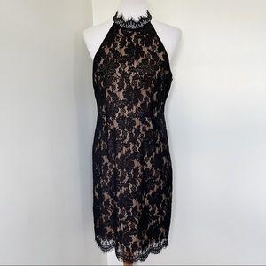 NWT SANS SOUCI Black Floral Lace Dress Size L